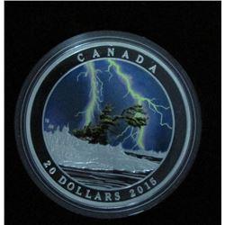 2015 Canada $20 Fine Silver Coin Summer Storm