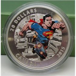 2015 Canada $20 Fine Silver Coin Iconic Superman Comic Book Covers Action Comics #1