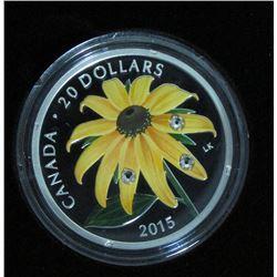 2015 Canada $20 Fine Silver Coin Black-Eyed Susan
