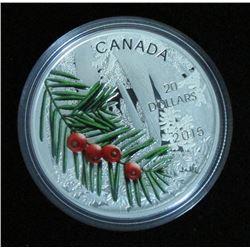 2015 Canada $20 Fine Silver Coin Forests Of Canada Columbian Yew Tree NIB w/COA - NO TAX