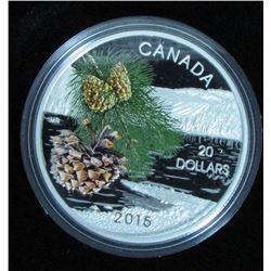 2015 Canada $20 Fine Silver Coin Forests of Canada Coast Shore Pine