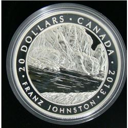 2013 Canada $20 Fine Silver Coin The Guardian of the Gorge