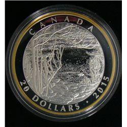 2015 Canada $20 Fine Silver Coin Tom Thomson: Spring Ice