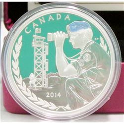 2014 Canada $20 Fine Silver Coin 50th Anniversary Of Canadian Peackeeping in Cyprus