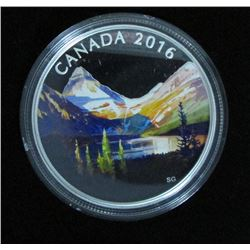2016 Canada $20 Fine Silver Coin Canadian Landscape Series The Lake