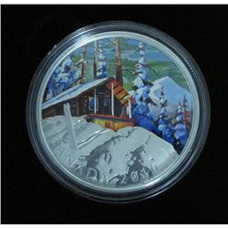 2016 Canada $20 Fine Silver Coin Canadian Landscapes Ski Chalet