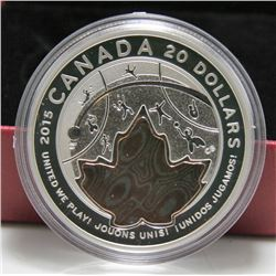2015 Canada $20 Fine Silver Coin - United We Play