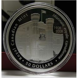 2008 Canada $50 Fine Silver Coin - 100th Anniversary of the Royal Canadian Mint
