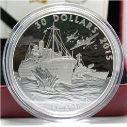 2015 Canada $30 Fine Silver Coin - Canada's Merchant Navy in the the Battle of the Atlantic
