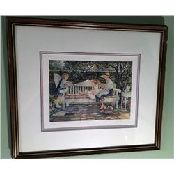 Garden Retreat - By Trisha Romance - Framed - #720 of 950