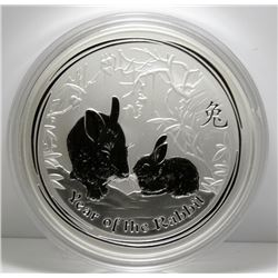 2011 Australia Year of the Rabbit 1 KG Fine Silver Coin