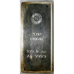 100 Oz Fine Silver Royal Canadian Mint Bar