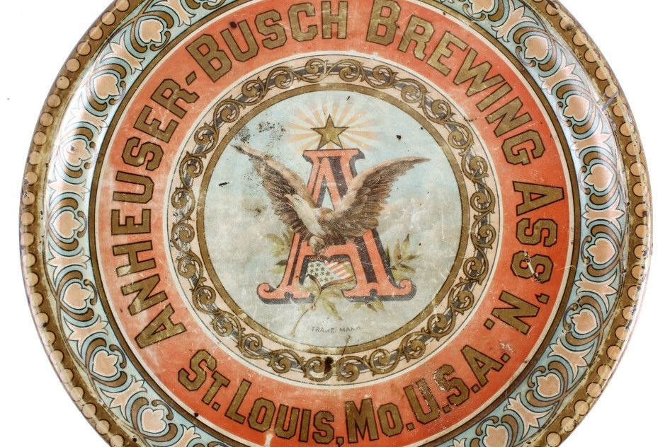 Anheuser Busch Beer Advertising Tray c  1880-1900
