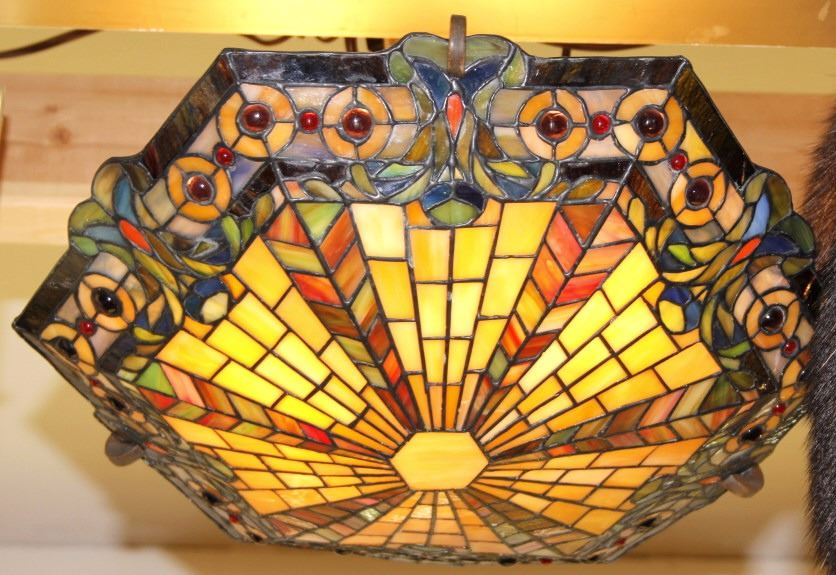 Kichler Mission Style Stained Glass Ceiling Light