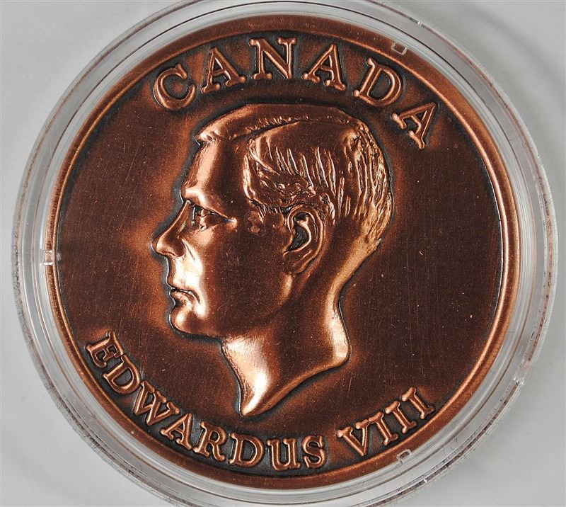 Canada King Edward VIII Copper Medallion