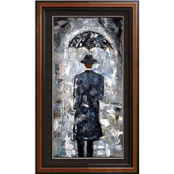 Rain Man Textured 24x12 Acrylic on Canvas Textured Fantastic Painting