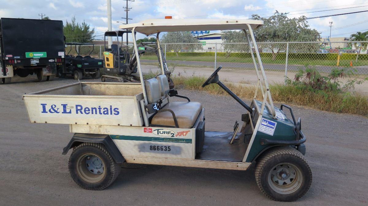 2002 Club Car Carryall Turf 252 Industrial Gas Utility Golf Cart