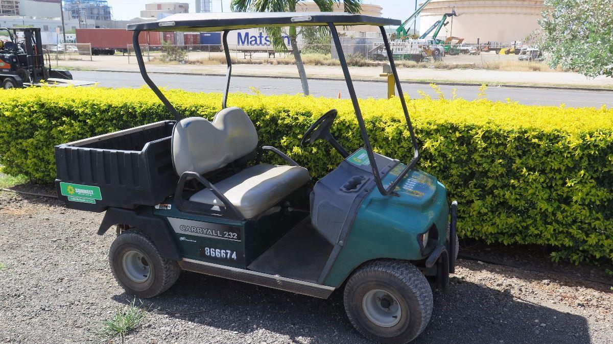 2012 Club Car Carryall Turf 232 Industrial Gas Utility Golf Cart