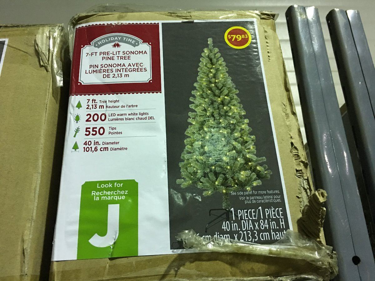 holiday time 7\' pre lit sonoma artificial christmas tree