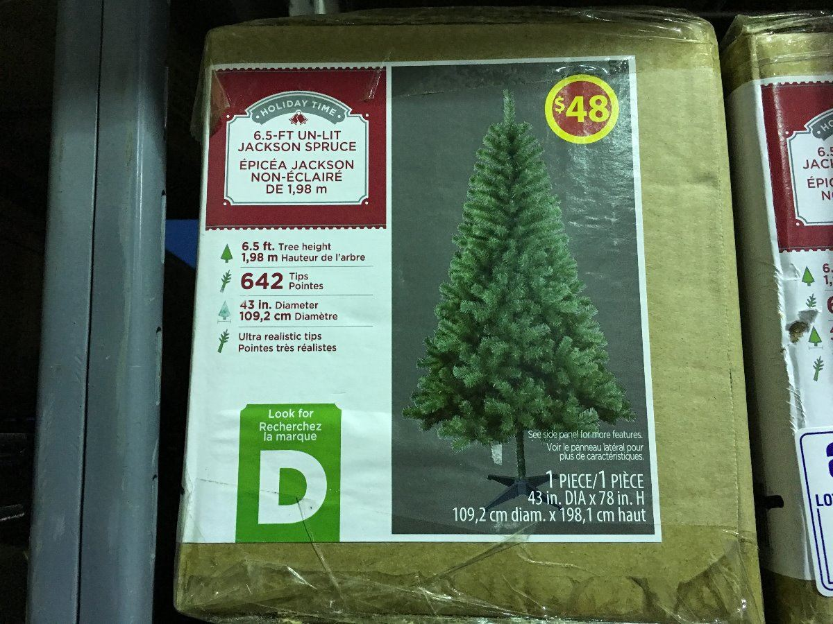Holiday Time Christmas Tree.Holiday Time 6 5 Un Lit Jackson Spruce Artificial Christmas