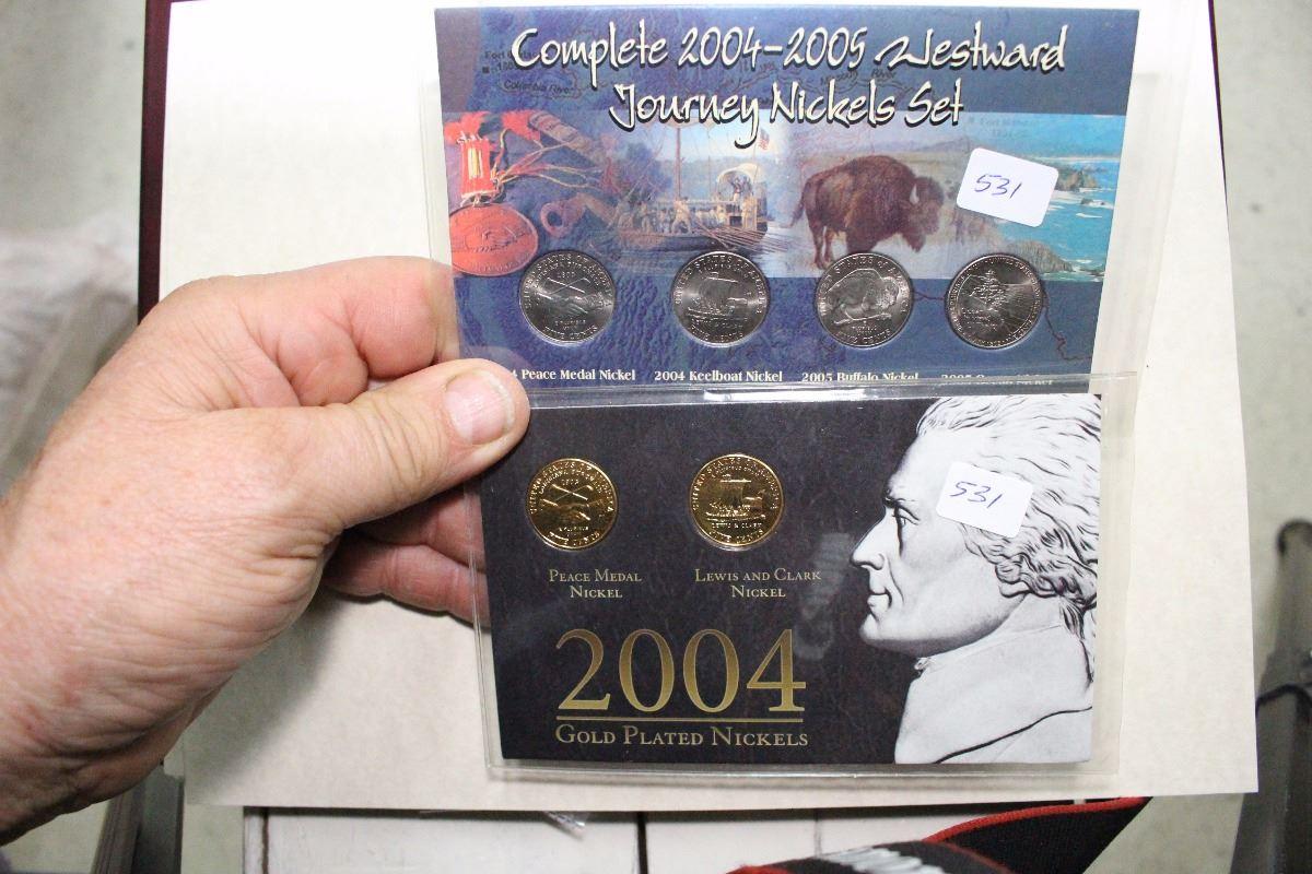 2004 & 2005 - 2 U S  Nickel Sets