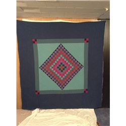 """77""""x79"""" HAND STITCHED DIAMOND DECORATED QUILT"""