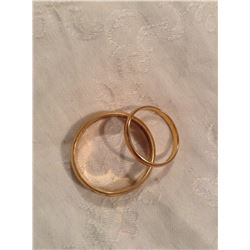 TWO MENS 10KT RING BANDS
