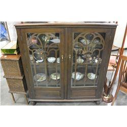 VINTAGE GLASS DOOR DISPLAY CABINET