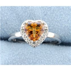 Azotic Topaz & Diamond Sterling silver ring