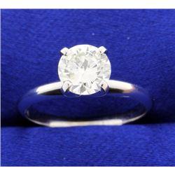 1.13 carat diamond solitaire ring
