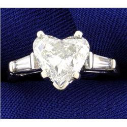 3.35 ct TW Heart Diamond Ring In Platinum