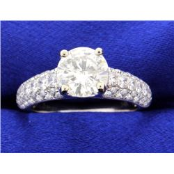 2.88 carat diamond engagement ring