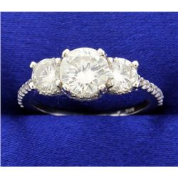 2 Carat TW Three Stone Diamond Ring