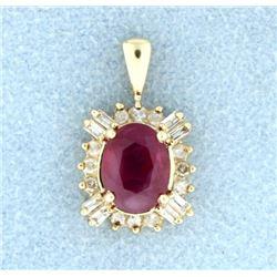 Ruby & Diamond Pendant