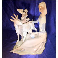 "Lladro Figurine ""Shepherdess with Goat"" #4570"