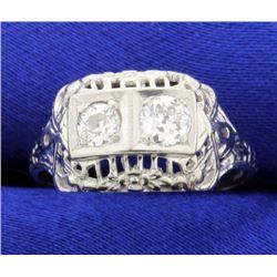 Vintage European Cut Ring