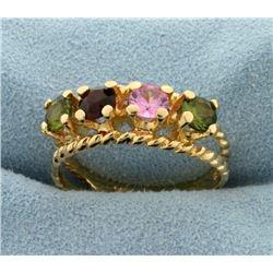 Multicolor Gemstone Ring