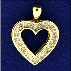 Reversible Diamond Heart Pendant