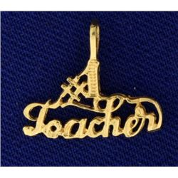 """#1 Teacher"" Pendant/Charm"