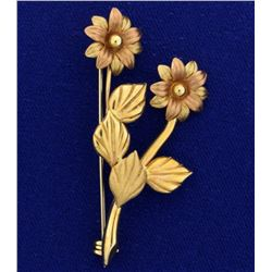 Italian Made Vintage Flower Pin