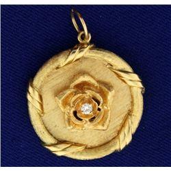 Diamond Rose Pendant