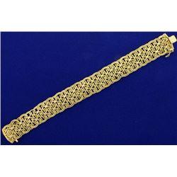 6 3/4 Inch Wide Woven Designer Bracelet