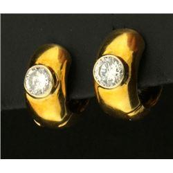1/2 ct TW Diamond Hoop Earrings