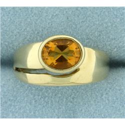 Natural Citrine Solitaire Ring