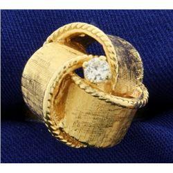 Custom Made Knot Design Diamond Ring
