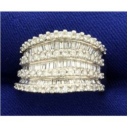 2ct TW Round and Baguette Diamond Ring