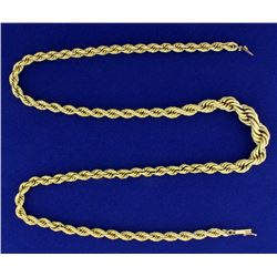 22 1/2 Inch Graduated Rope Style Neck Chain in 14k Gold