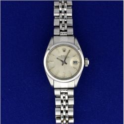 Ladies Rolex Date Stainless Steel Watch Model 6916