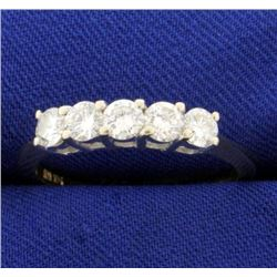 1ct TW Five Stone Diamond Ring in 14k Gold