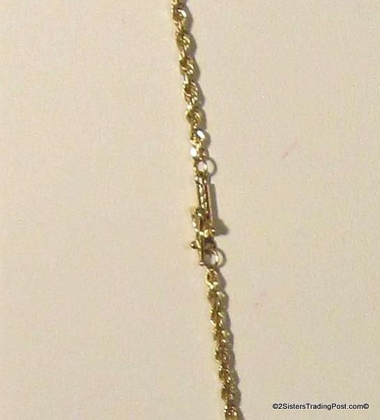 14K Yellow Gold Rope Chain Stamped OTc